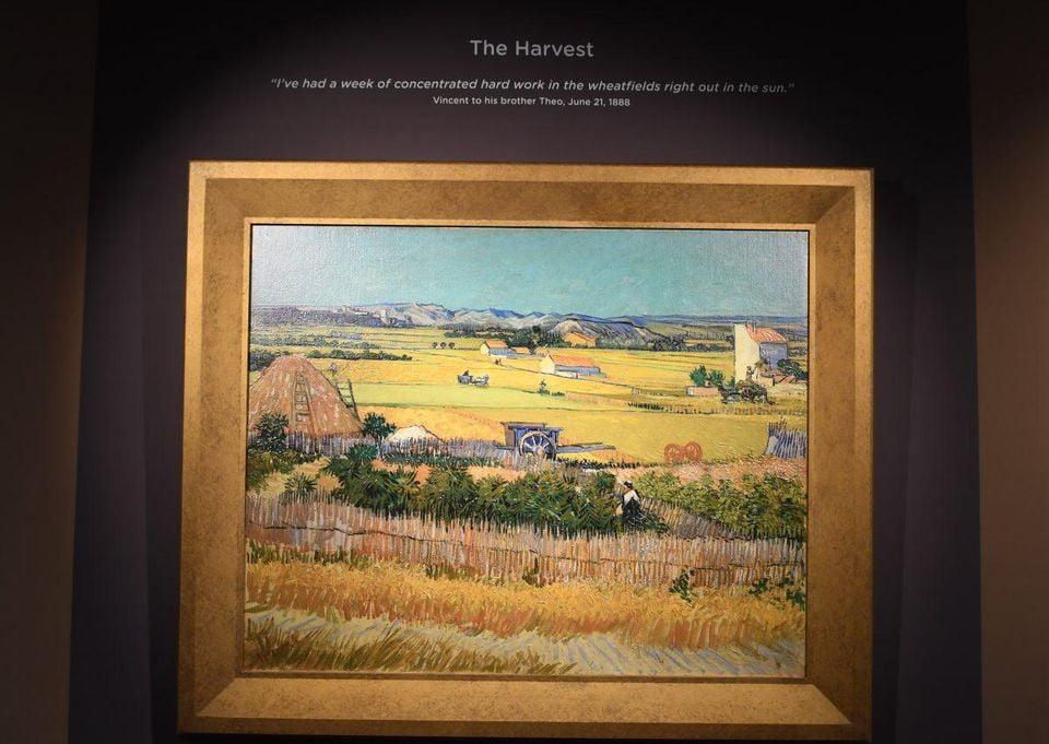 Imagen de uno de los cuadros que componen la exposición itinerante del Museo Van Gogh y que se exhibe en centros comerciales de EEUU.